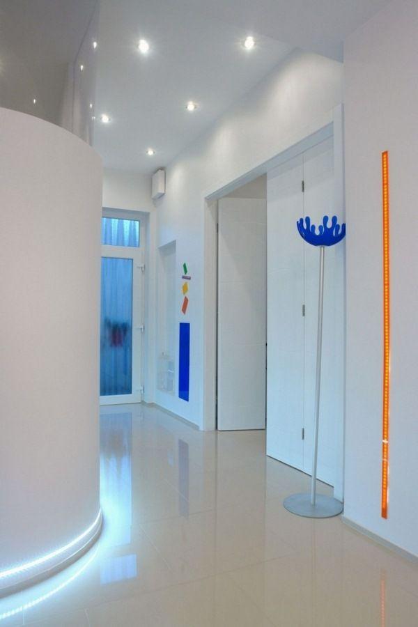 Carreaux Led Eclairage Indirect Blanc Couloir De Bande Reflechissante Appartement Colore Eclairage Indirect Appartement Design