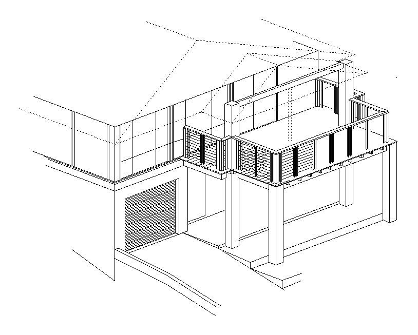 Isometric Drawing Of A New Timber Deck
