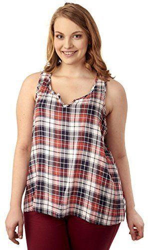 ce470526e1774 WallFlower Women s Plus Size Notch Neck Swing Tank