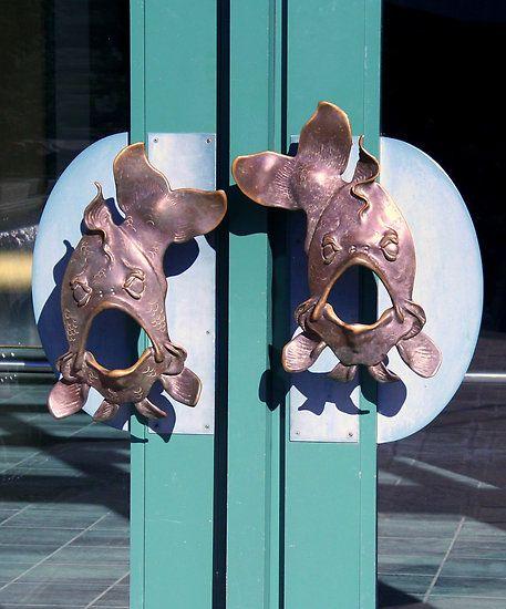 Fish Door Knobs - so cute~ | FISH ADORNMENTS | Pinterest | Door ...