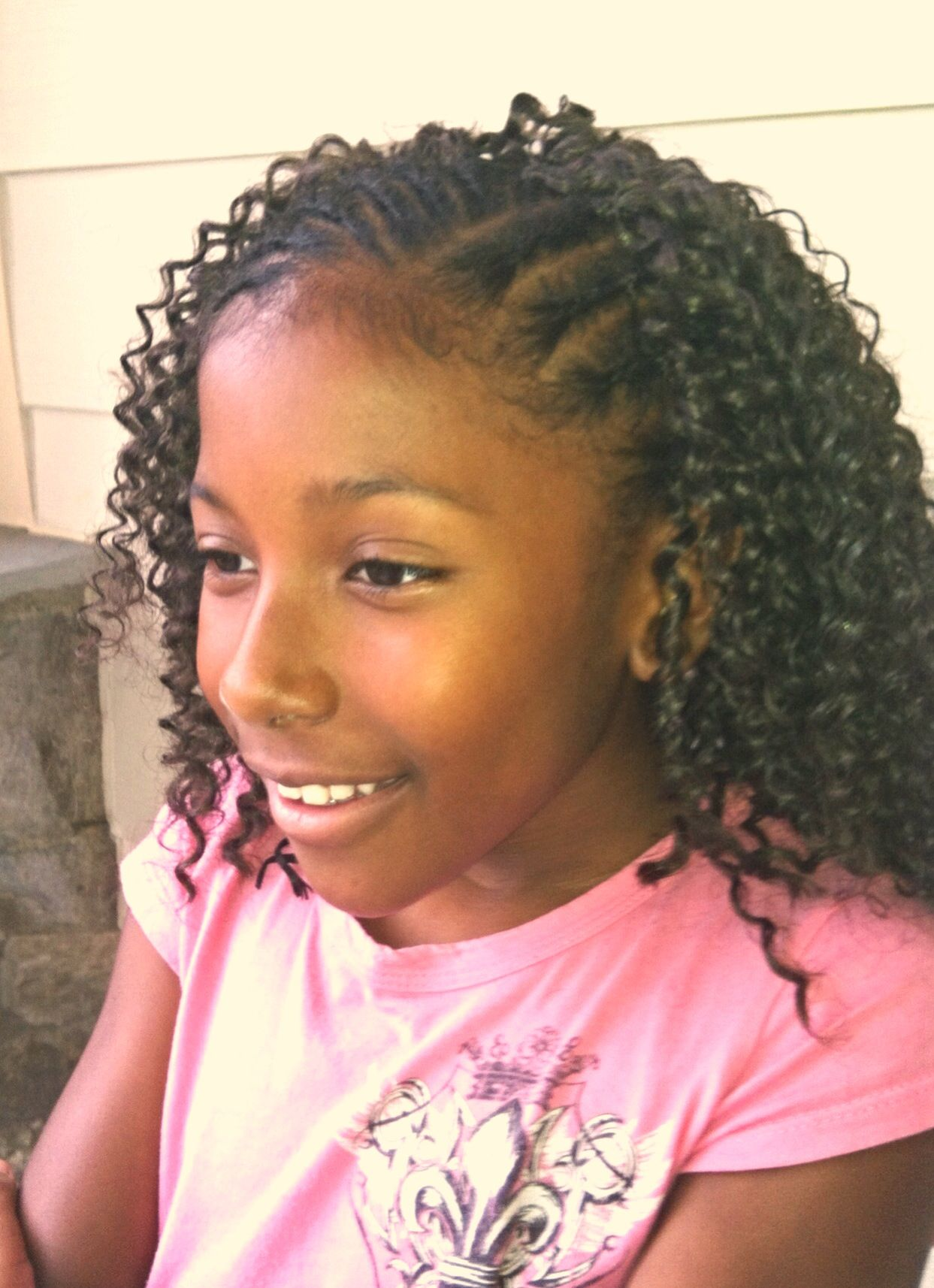 Water Wave Crochet Braids With Images Kid Braid Styles