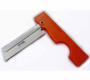 The Derma-Safe Folding Razor Knife is a light to medium duty cutting tool, and due to its size and weight is a great addition to any ultralight backpacker's kit.