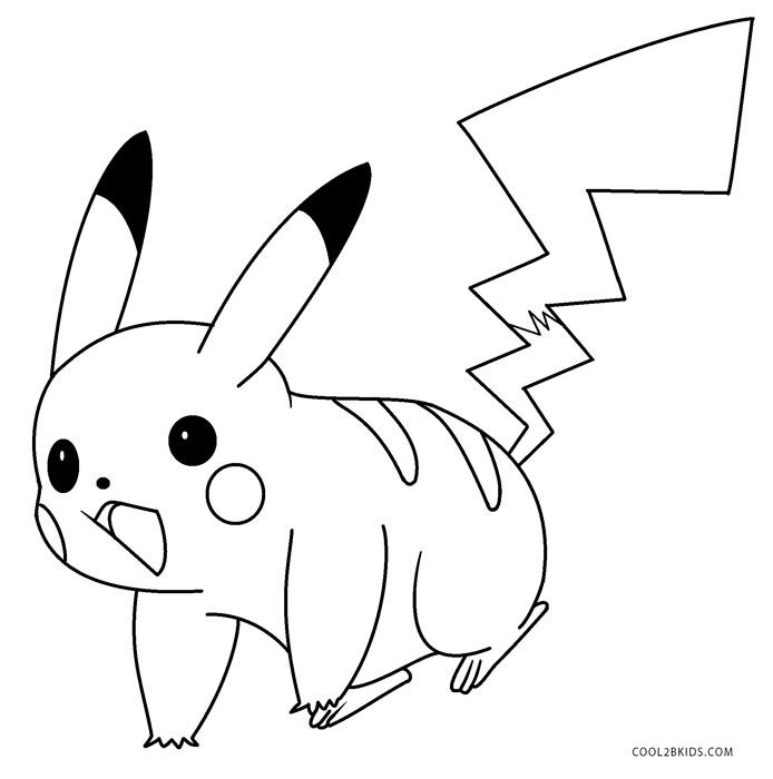 Printable pikachu coloring pages for kids cool2bkids