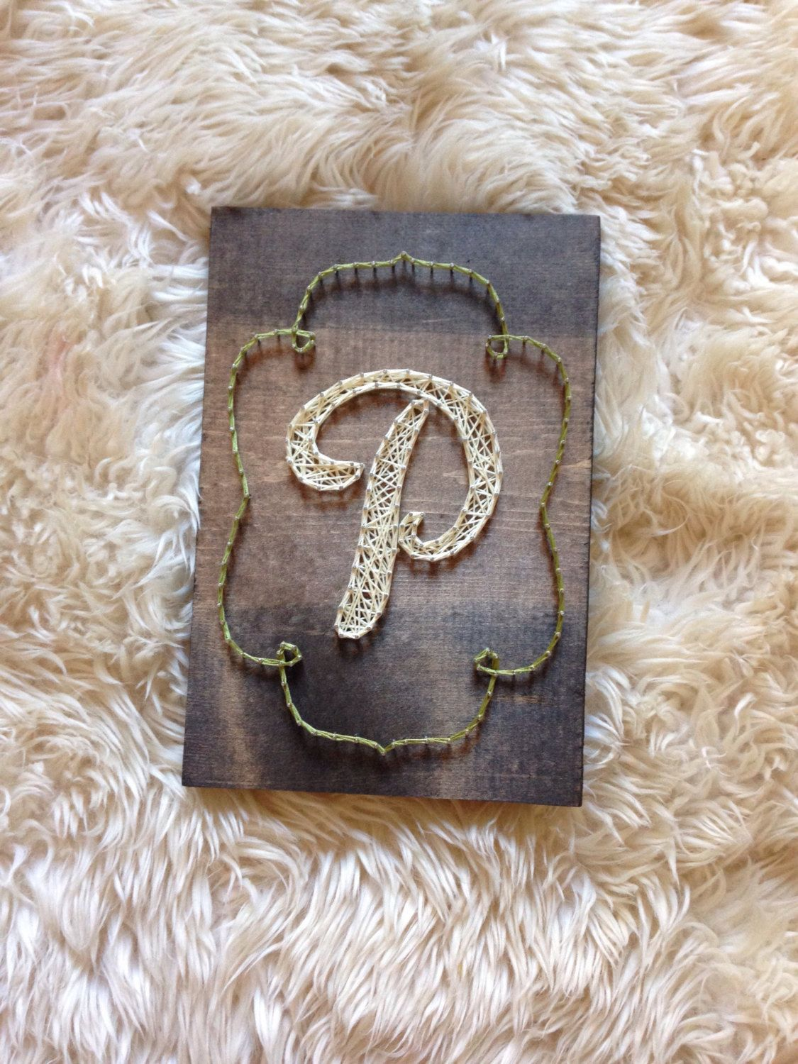 Initial Home Decor Wood Sign Monogram Etsyfrom My Etsy Https Www