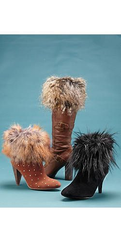 Wild furry booties and sexy foot wear