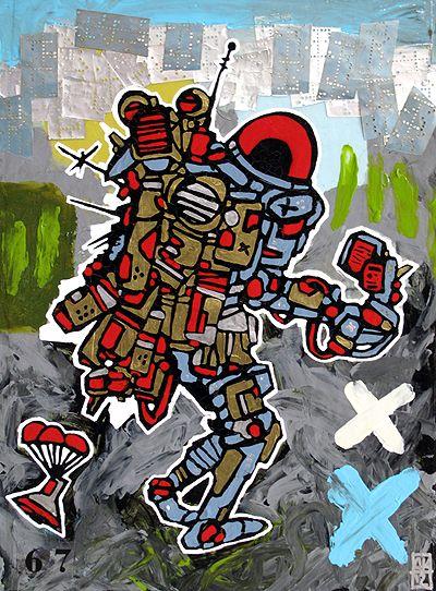 Spaceman 11 - painting