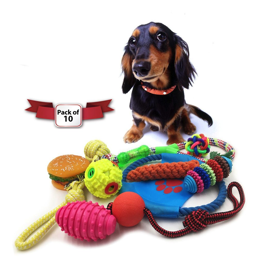 Dog Toys Set Ball Rope And Chew Toys Squeaky Toys A High Quality