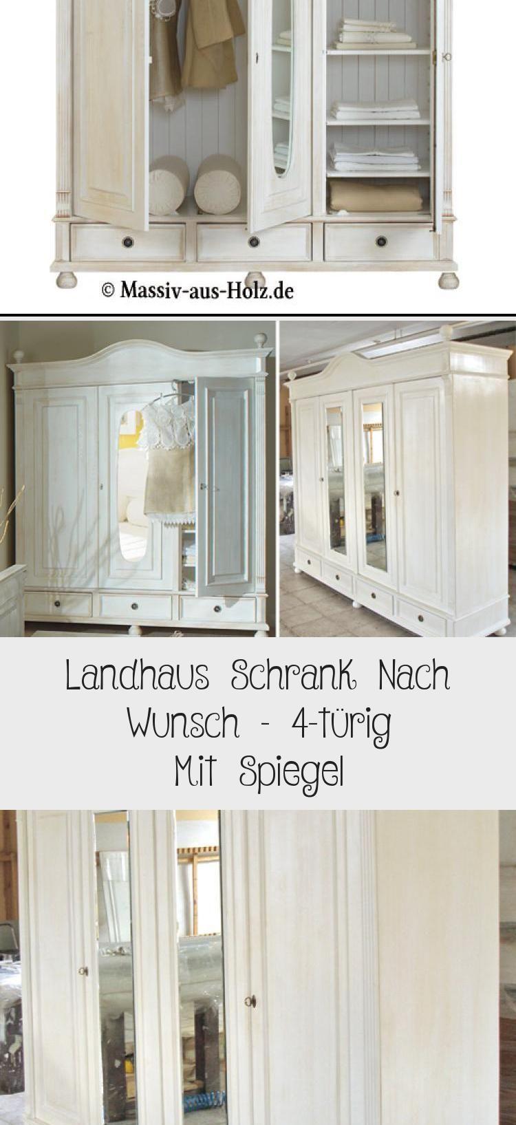 Landhaus Schrank Nach Wunsch 4 Turig Mit Spiegel With Images
