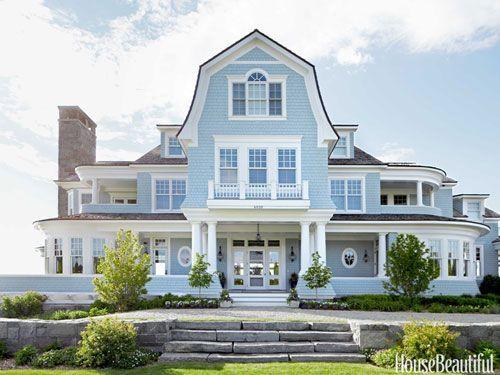Modest Little Beach House House Exterior Blue Beautiful Homes Dream Beach Houses
