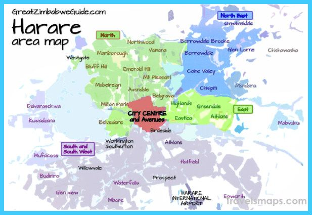 cool Map of Harare   Map, Harare, Trip