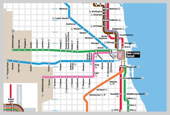 Chicago Trains Map chicago metro train map | The World's Best Designed Metro Maps  Chicago Trains Map