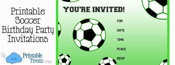 Free Printable Soccer Birthday Party Invitations Treats