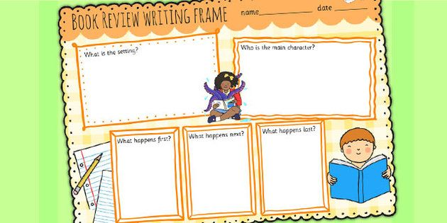 Book Review Writing Template Colourful | Writing Strategies