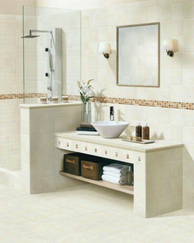 Los colores cremas y naturales son una de las mejores for Concreto de cera en los azulejos del bano
