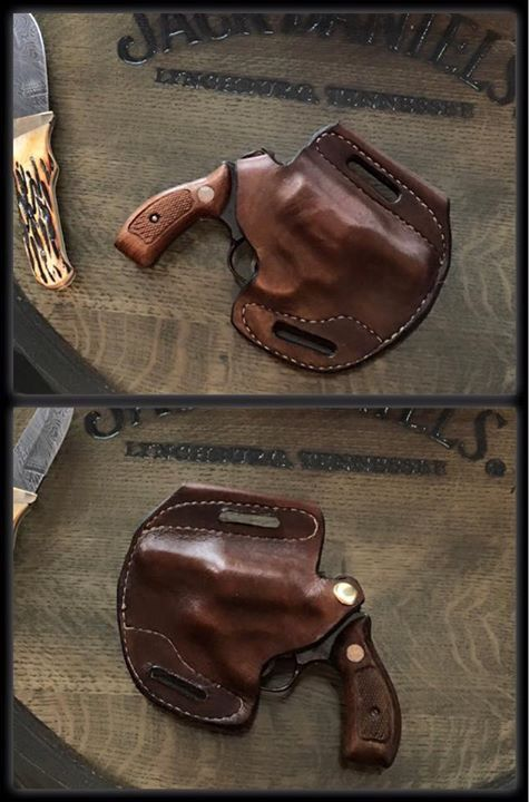 J Frame revolver holster | Rock n Roll Leather Works | 1911 holster