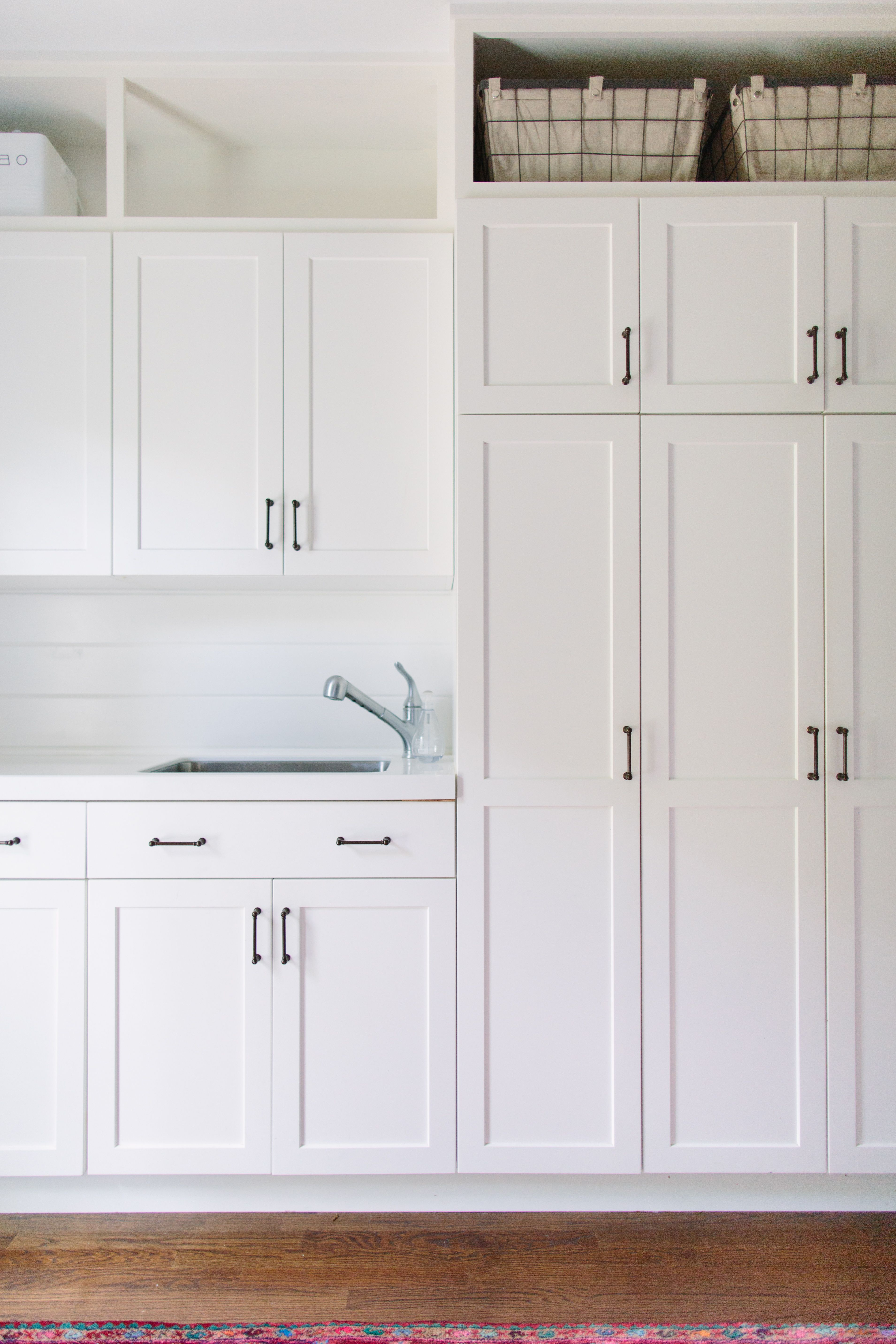 Take Any Cabinets All The Way Up! Floor To Ceiling Storage And A Sink.