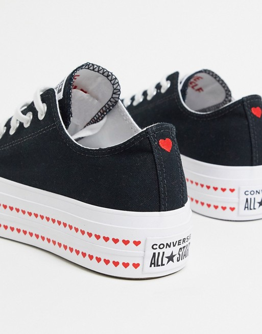 desarrollando Oceano Novio  Converse Chuck Taylor Lift Platform Heart black trainers | ASOS in 2020 | Chuck  taylors, Black sneakers fashion, Converse with heart