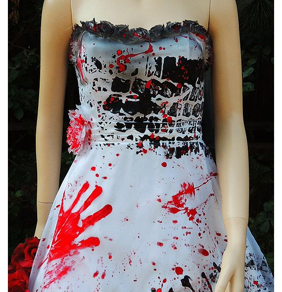 Roadkill Blackened Burned And Bloody Zombie Bride Wedding