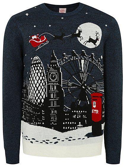 902d67780083 Navy London Scene Christmas Jumper