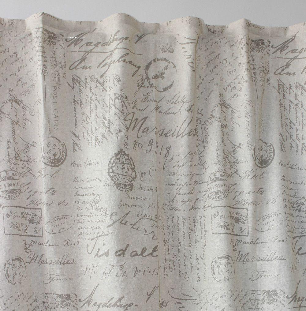 Venta al por mayor las letras impresas cortinas de lino - Cortinas para cuarto ...