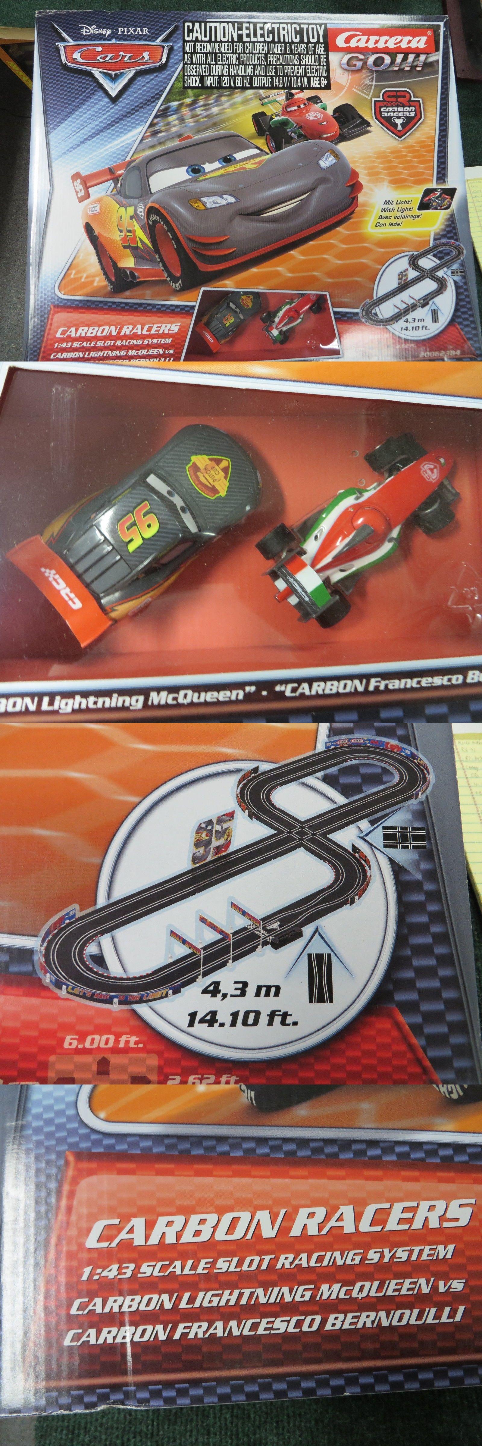 Carrera Disney Pixar 1 43 Carbon Racers Go Mcqueen Bernoulli Pixar Disney Pixar Slot Car Racing Sets