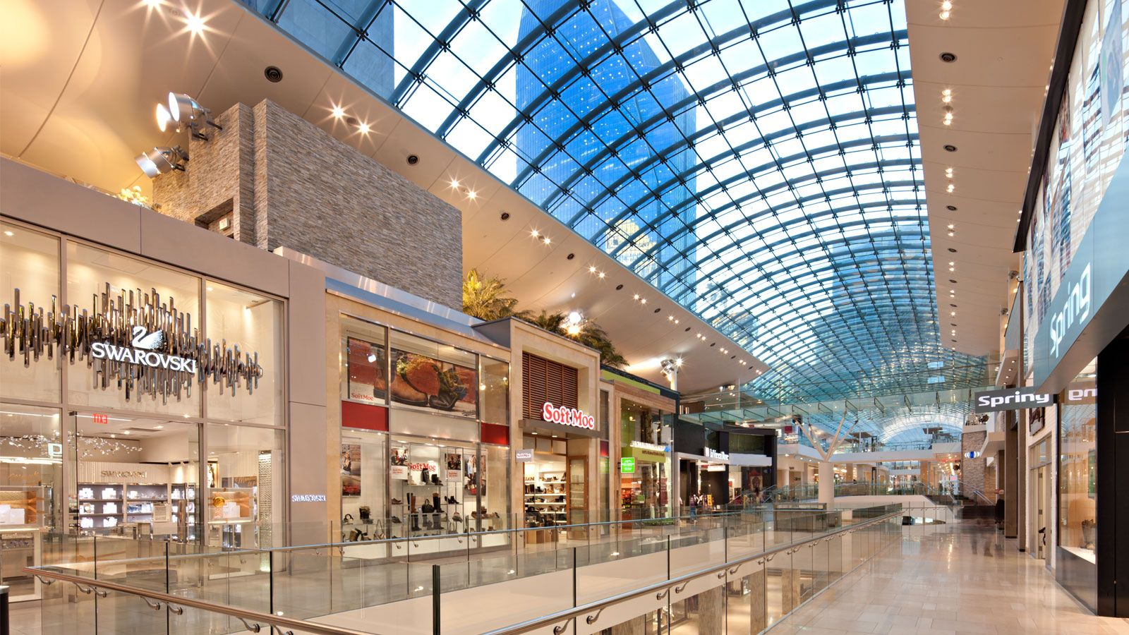 Greater than 60, m 2. The following is a list of Canada's largest enclosed shopping malls, by reported total retail floor space, or gross leasable area (GLA) with 60, square metres (, sq ft) and over. In cases where malls have equal area, they are further ranked by the number of stores.