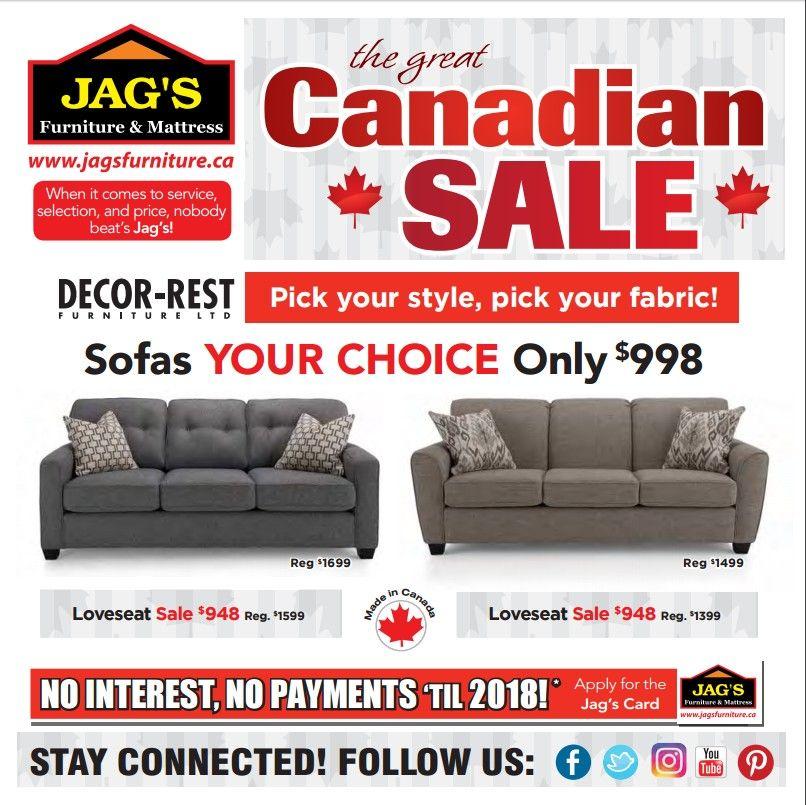 Jag Furniture Mattress, Furniture Black Friday Canada