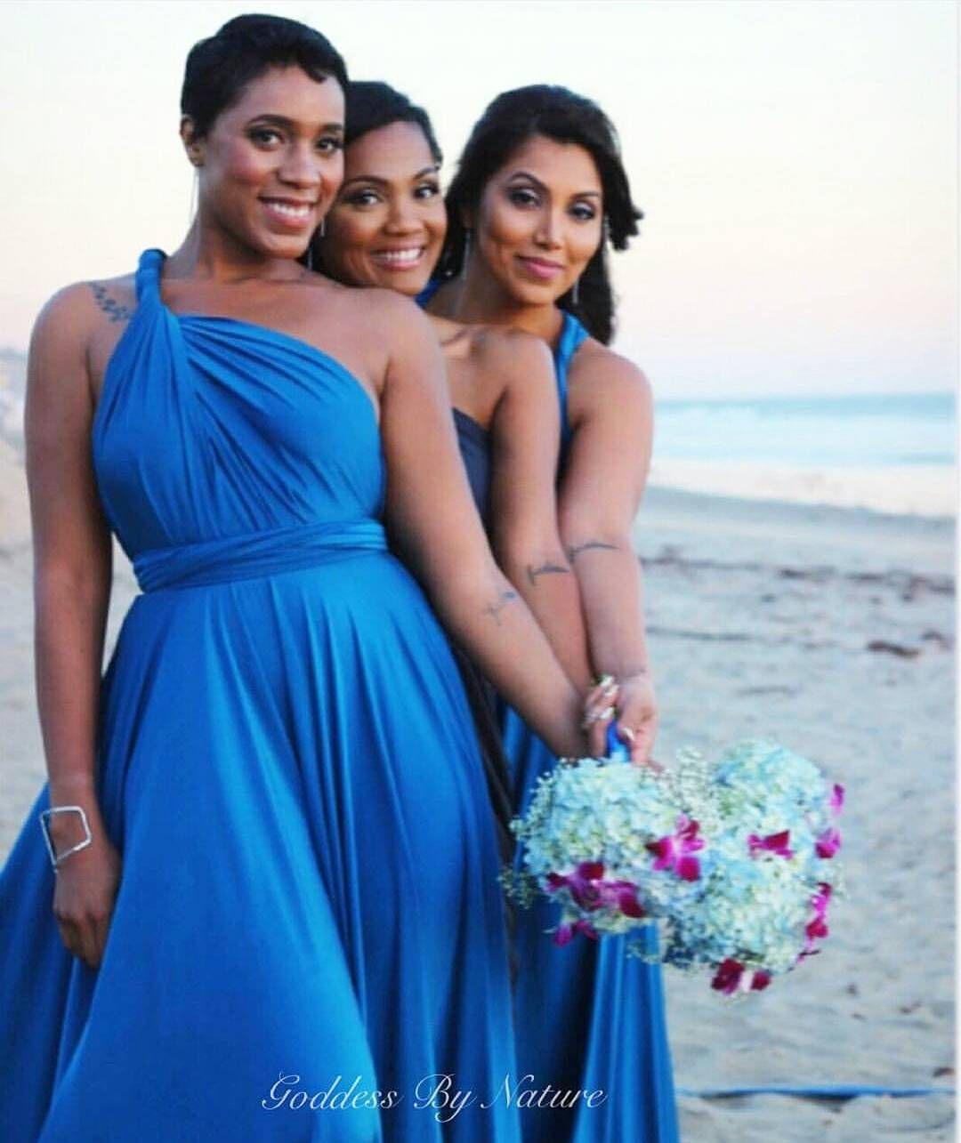 Our gorgeous customers in Malibu wearing the Goddess By Nature Multiway Dress in Island Paradise #whiterunway #wedding #malibuweddings #goddessbynature