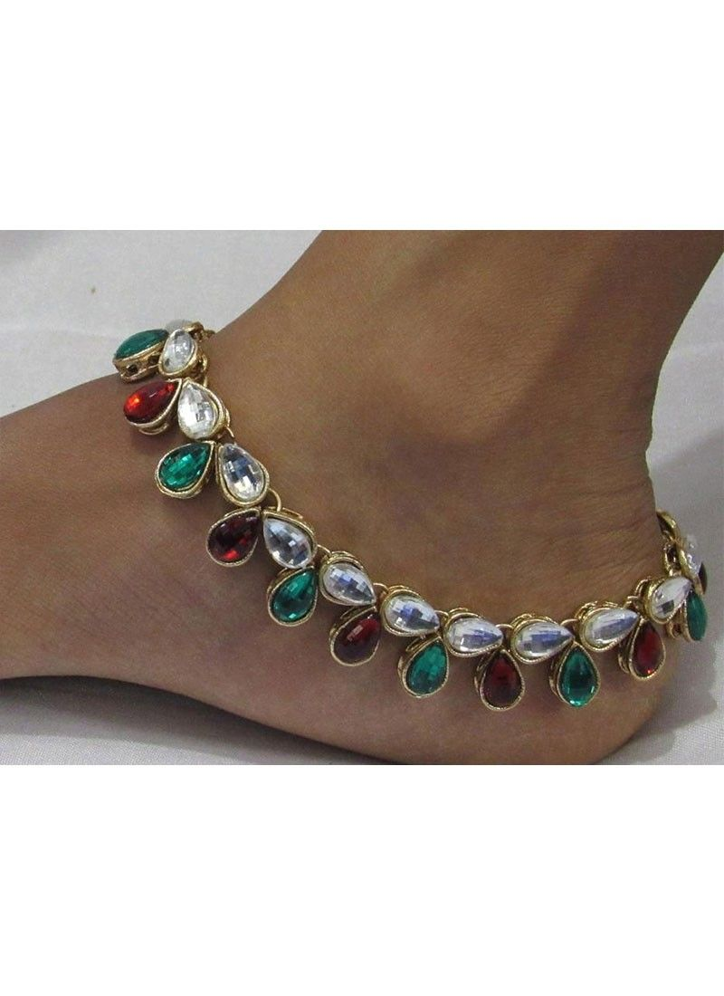 online gold payal girls antique kundan women charms for diva anklet anklets buy