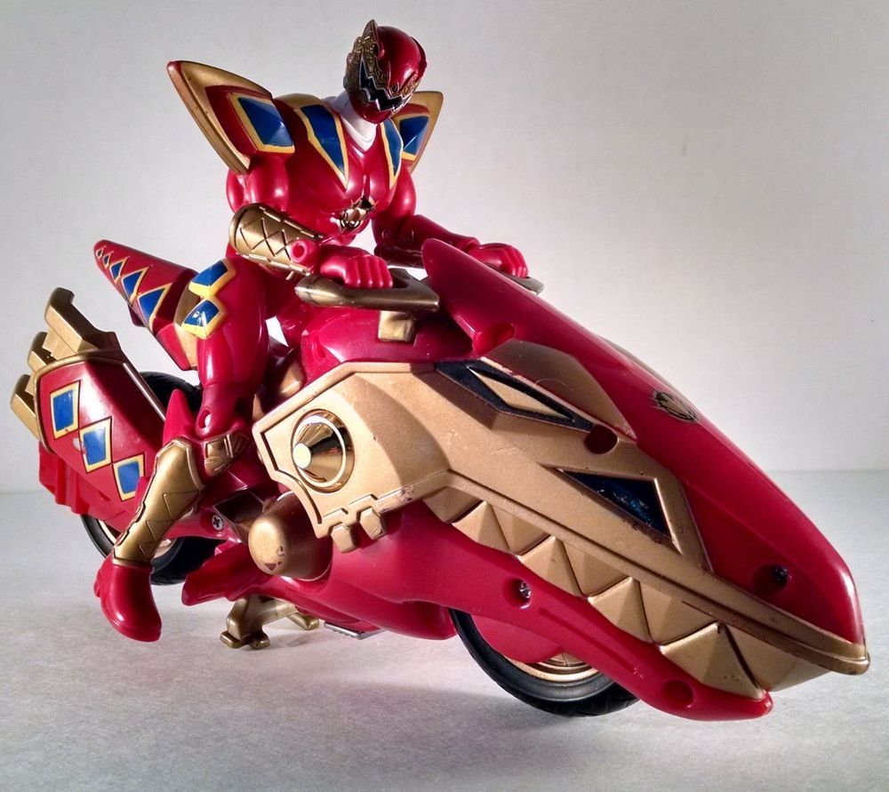 red power rangers dino thunder rider and motorcycle bandai 2003 great retro toy toys. Black Bedroom Furniture Sets. Home Design Ideas