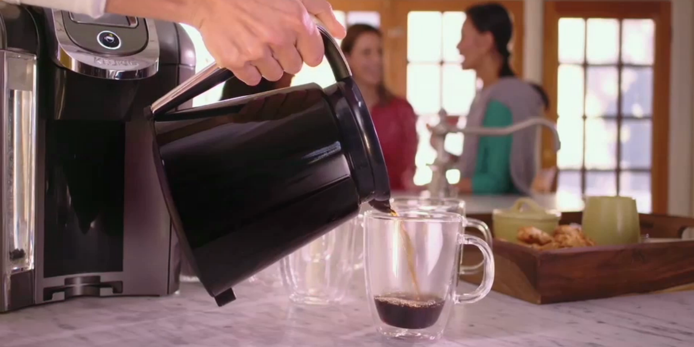 Kuerig coffee pot that makes individual cups OR a pot of coffee.  Great gift for my mother.