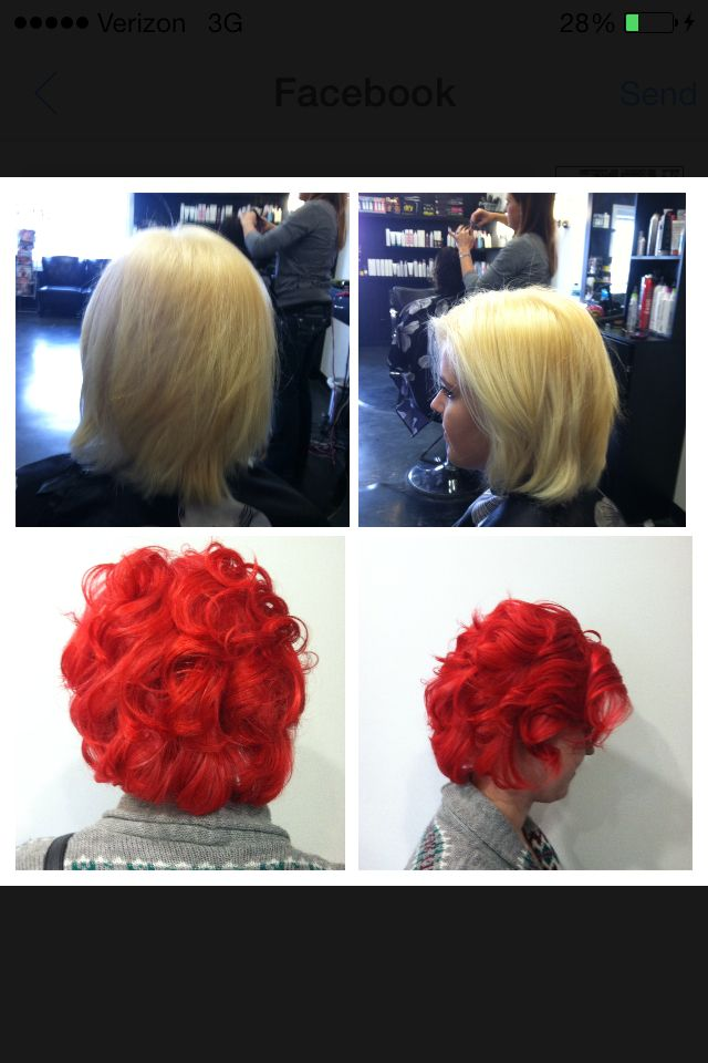 Blonde To Red With Vero K Pak Color Intensity Semi Permanent Red
