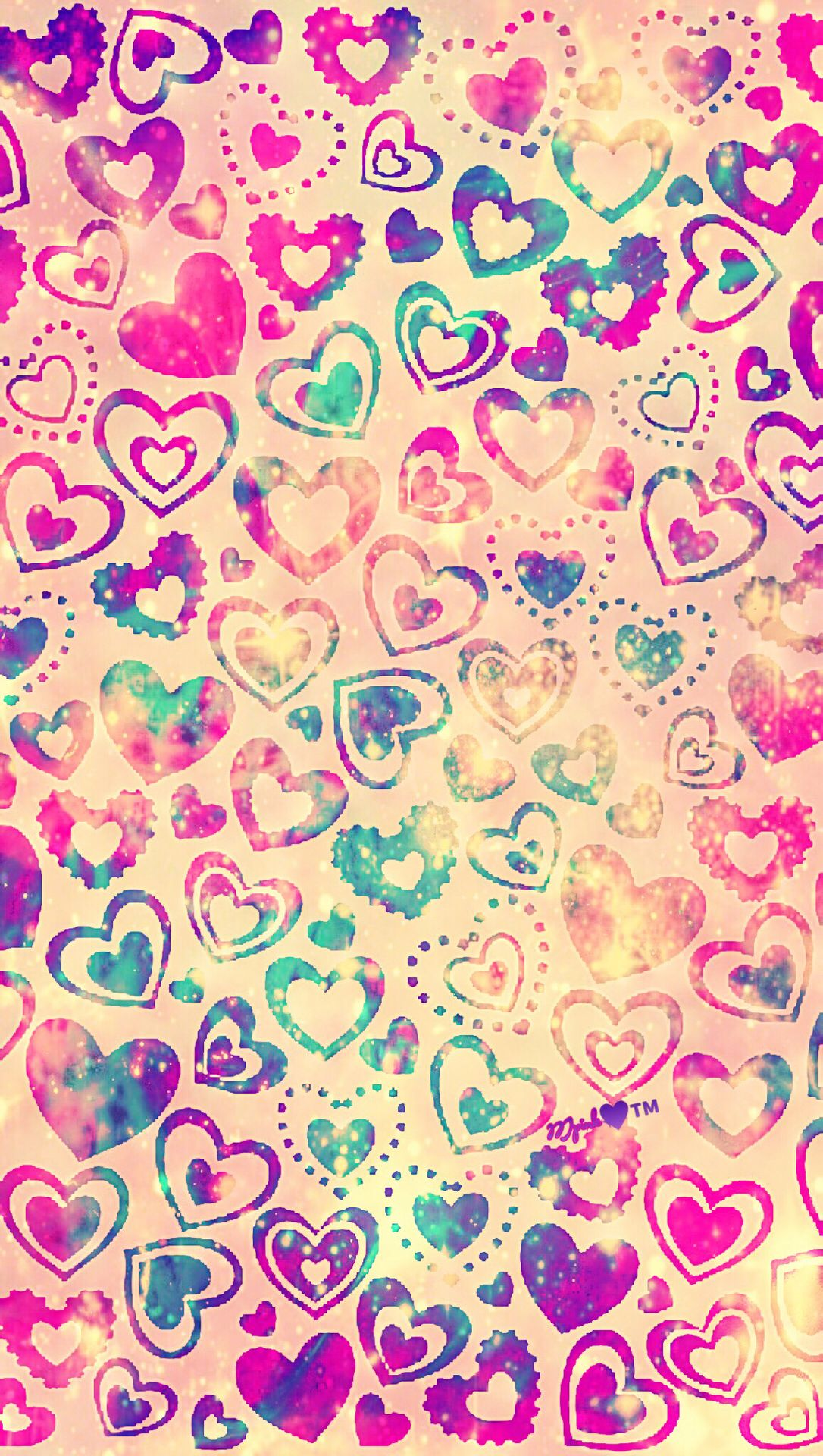Candy Hearts Galaxy Wallpaper Androidwallpaper Iphonewallpaper