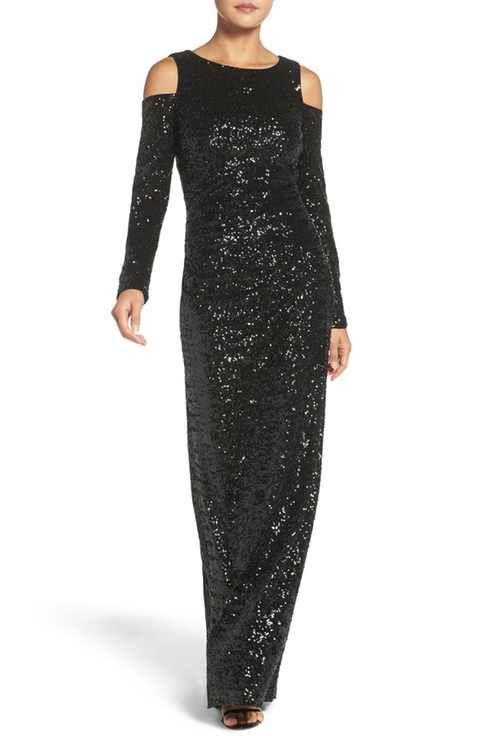 Vince Camuto Cold Shoulder Sequin Gown | mother of bride | Pinterest ...