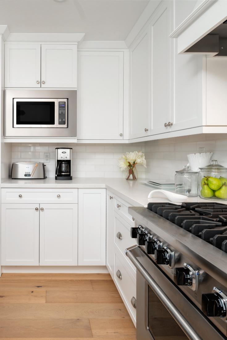 Transitional White Cabinets   Transitional kitchen, Kitchen ...