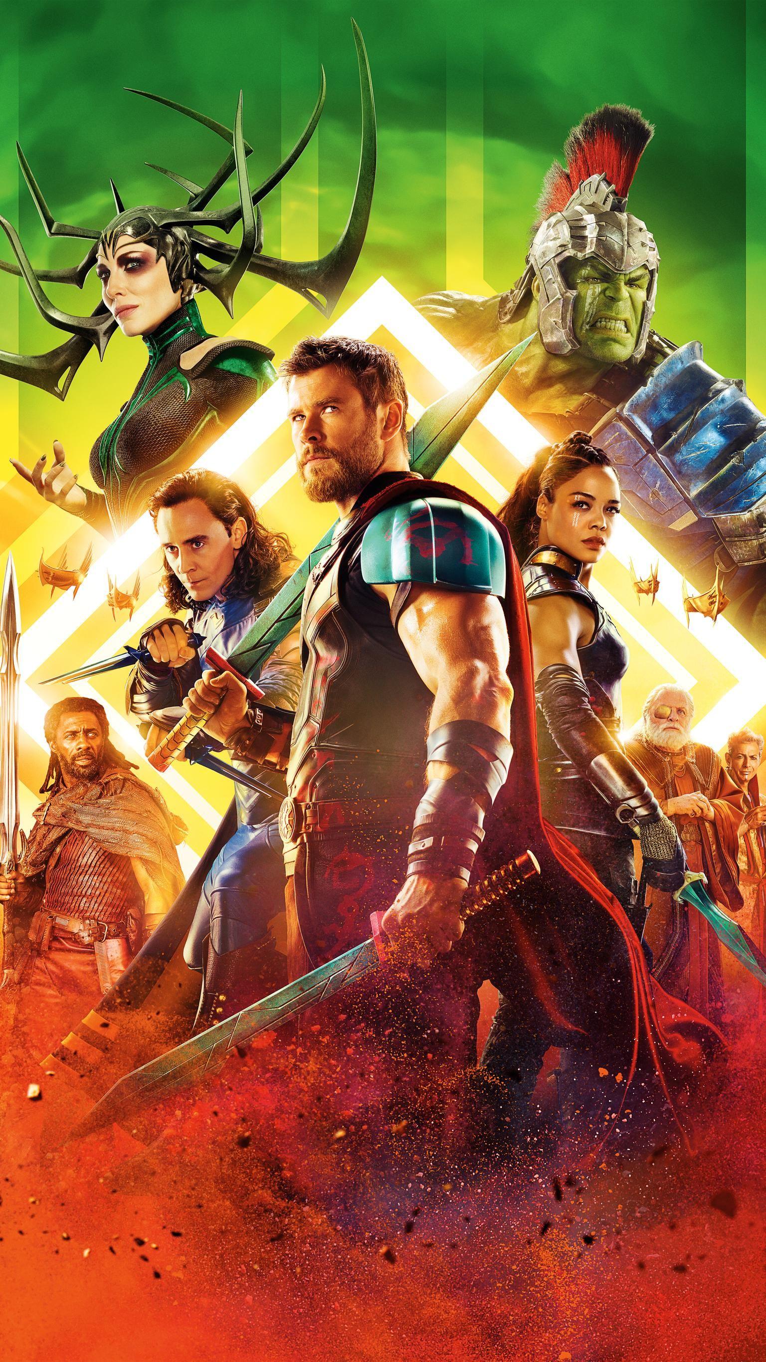 Thor Ragnarok 2017 Phone Wallpaper Marvel Pinterest