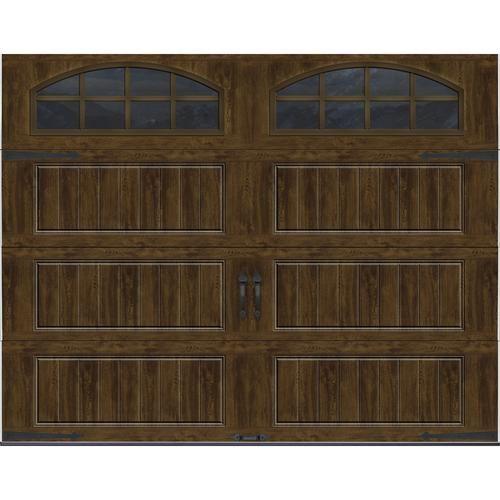 Ideal Door Carriage House 9 Ft X 7 Ft Ultra Grain Walnut Premium Insulated Garage Door Wit Garage Door Styles Garage Doors Garage Door Insulation