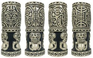 Nari Rani Marquesan mug by Flounder (Scott Scheidly) was featured in the Mondo Tiki art show in November at La Luz de Jesus Gallery in Hollywood. A limited edition of 100 quickly sold out.