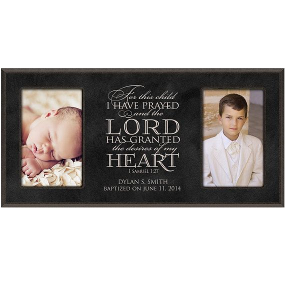 For this Child I have prayed, 1 Samuel 1 :27, Baptism Photo Frame ...