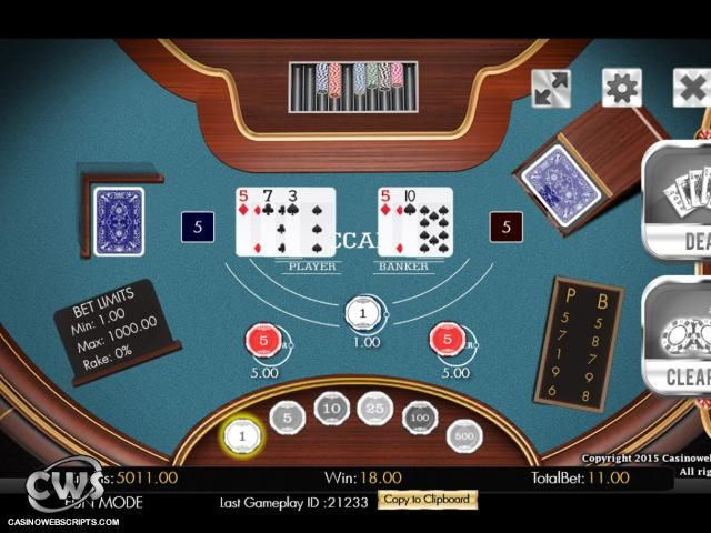 Baccarat Mobile Html5 Table Card Mobile Preview Baccarat Casino Table Cards