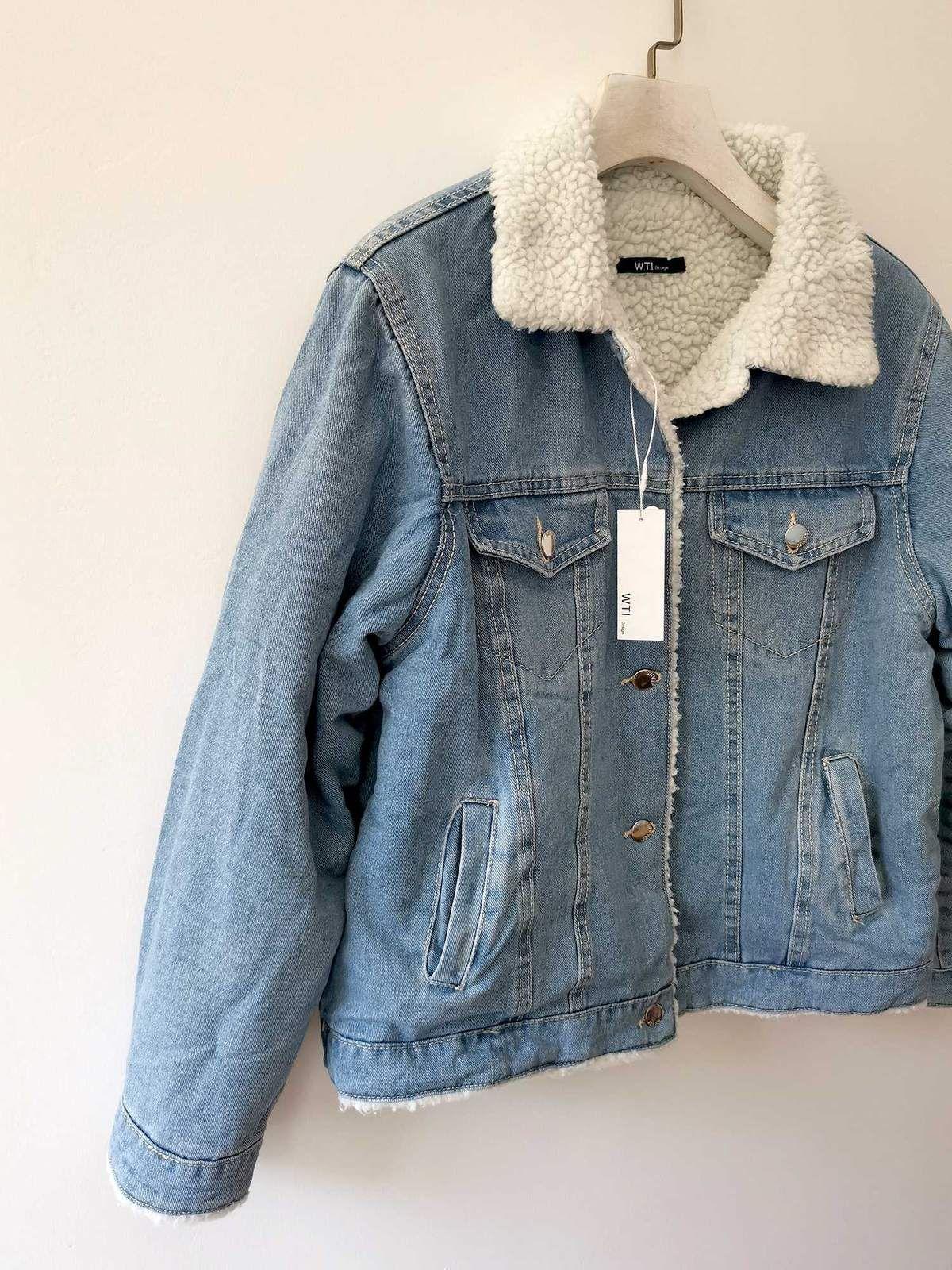 Classic Denim Sherpa Jacket W T I Design Jacket Outfit Women Fleece Denim Jacket Lined Denim Jacket [ 1600 x 1200 Pixel ]