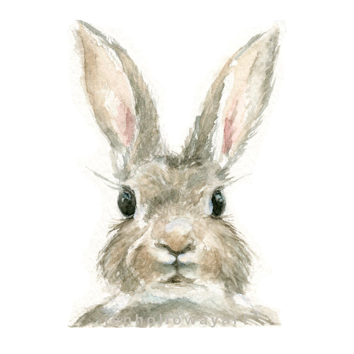 Aquarelle Lapin Lapin Print Impression Bunny Imprime Animal