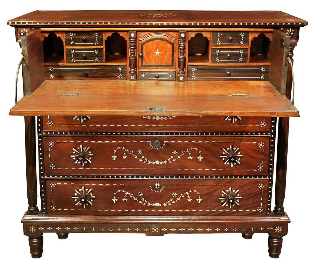 Baliuag Chest Of Drawers With Escritorio C 1850 Narra Kamagong  # Muebles Tagalog