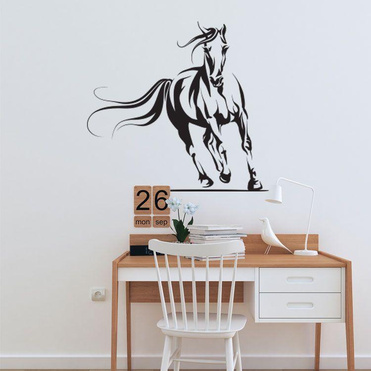Paarden Muursticker Muurdecortie Inspiratie Ideeen Voor Kinderkamer Silhouet Zwart Paard Decoratie Muur Thuisdecoratie Muurstickers Decoraties