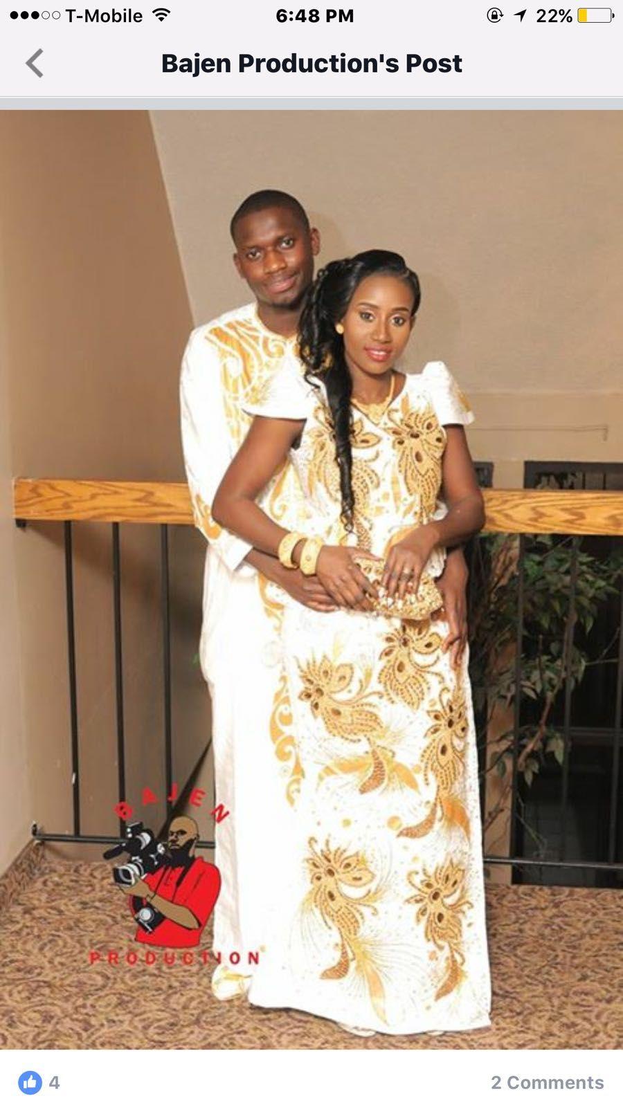 Tenue africaine pour mariage fashion designs - Photo de mariage couple ...