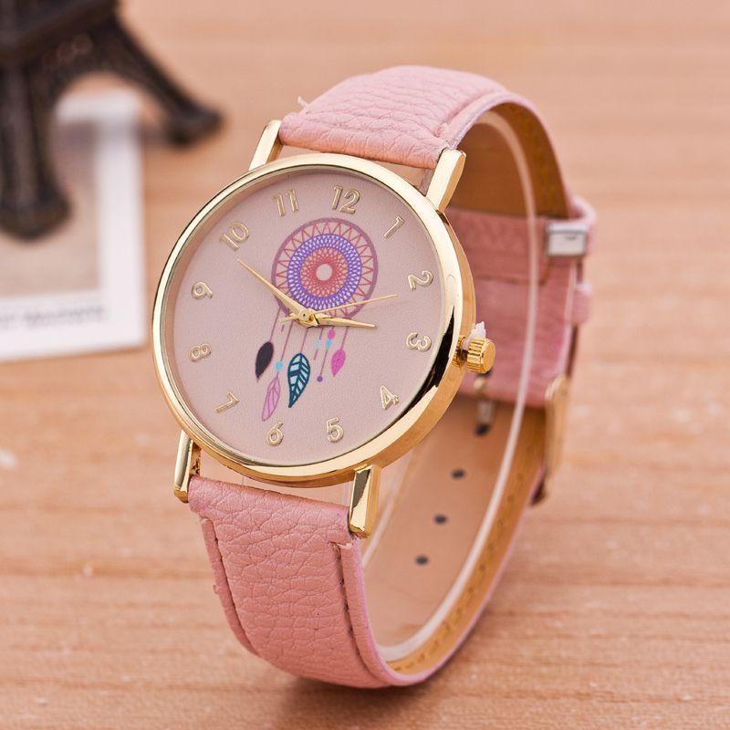 Encontrar Más Relojes de moda Información acerca de Nueva marca Women Watch  moda Dreamcatcher para mujer del reloj de Quarzt relojes relogio feminino ada249d59756