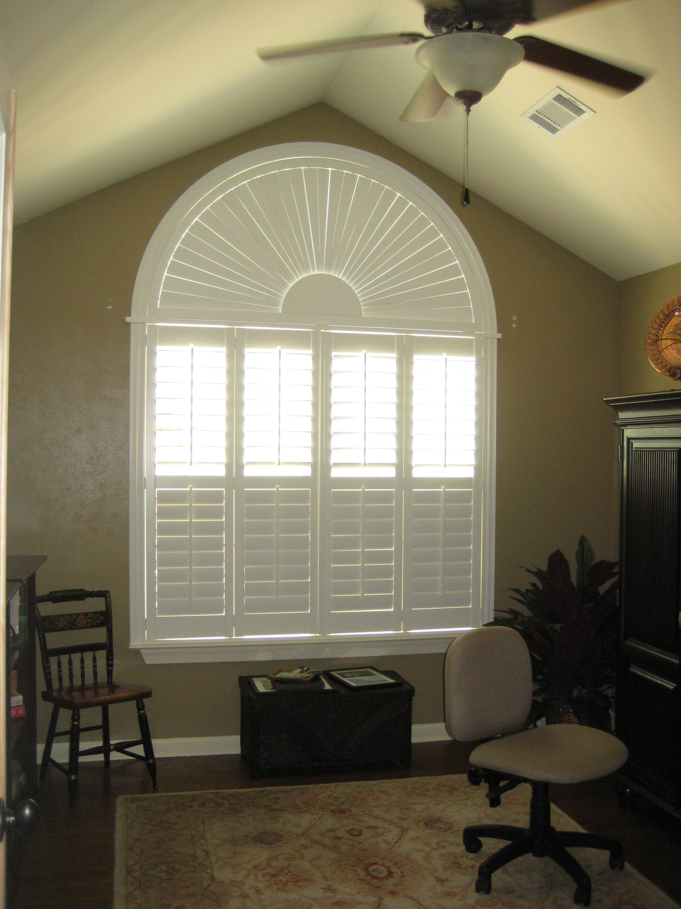 Norman Woodlore Plantation Shutters with Arch | Plantation ...
