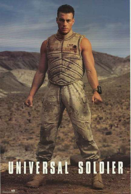 Universal Damme Jean Claude Poster Soldier 23x35 Van Movie POkXTiuZ