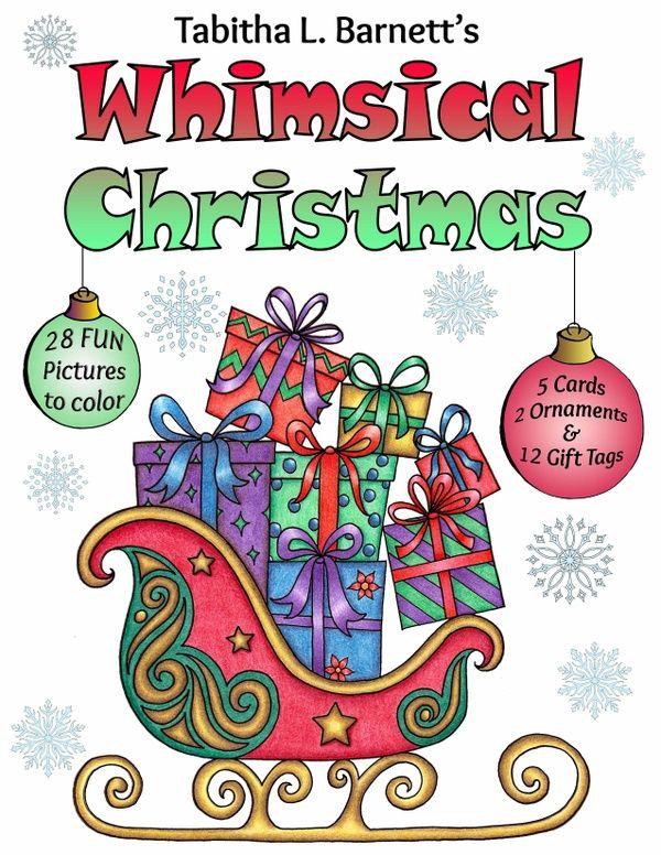 Whimsical Christmas Adult Coloring BOOK PDF | Whimsical ...