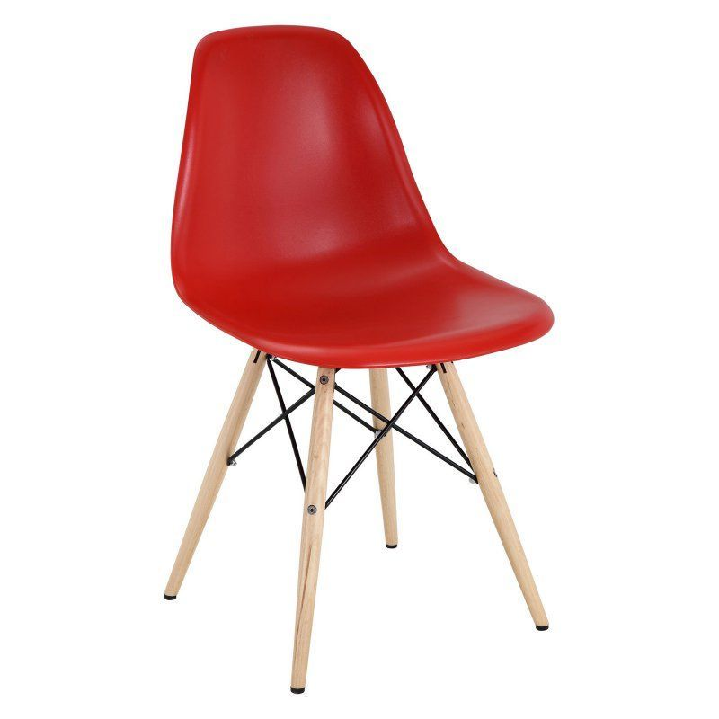 Modway Pyramid Dining Side Chair Red - EEI-180-RED